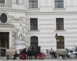 You might think you were back in the 19th century with the carriages drawn up outside the palace.
