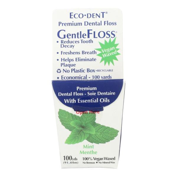 Eco-Dent GentleFloss Premium Dental Floss Mint - 100 Yards - Case of 6 %count(alt)