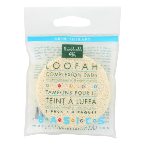Earth Therapeutics Loofah Complexion Pads - 3 Pads - Case of 12 %count(alt)