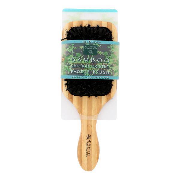 Earth Therapeutics Large Bamboo Natural Bristle Paddle Brush - 1 Brush %count(alt)