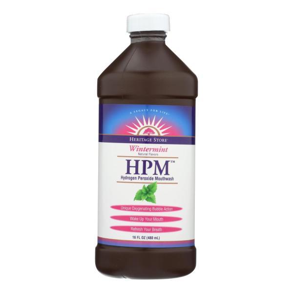 Heritage Products HPM Hydrogen Peroxide Mouthwash Wintermint - 16 fl oz %count(alt)