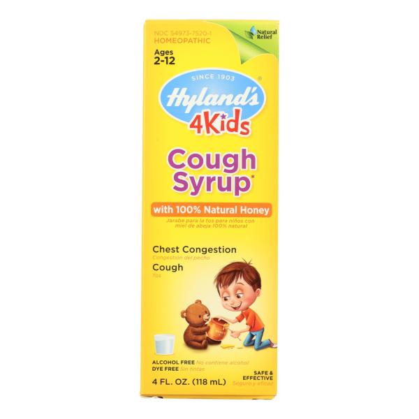 Hylands Homeopathic Cough Syrup - 100 Percent Natural Honey - 4 Kids - 4 oz %count(alt)