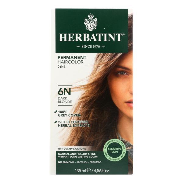 Herbatint Permanent Herbal Haircolour Gel 6N Dark Blonde - 135 ml %count(alt)