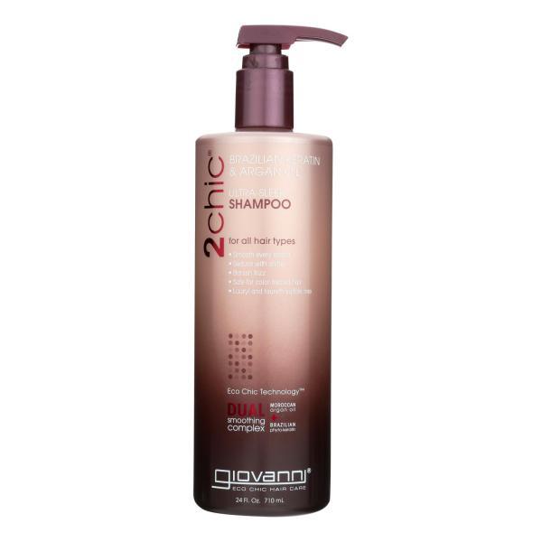 Giovanni Hair Care Products Shampoo - 2Chic Keratin and Argan - 24 fl oz %count(alt)