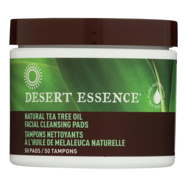 Desert Essence - Natural Tea Tree Oil Facial Cleansing Pads - Original - 50 Pads %count(alt)