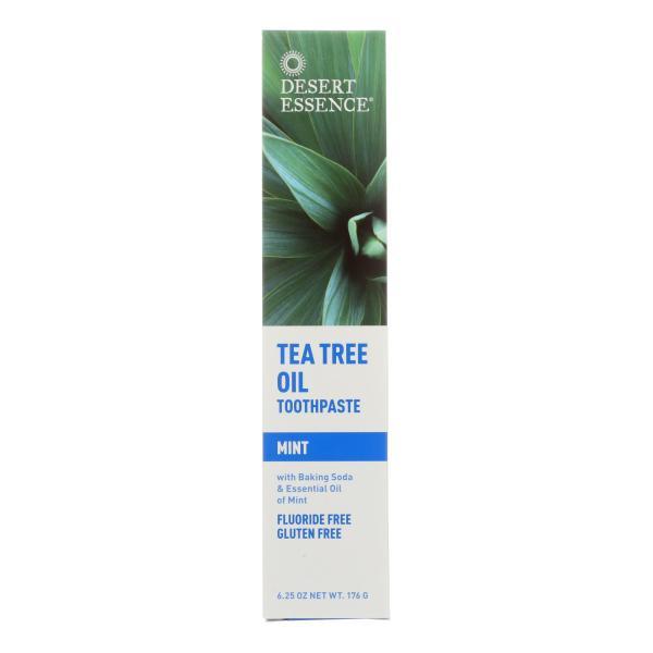 Desert Essence - Natural Tea Tree Oil Toothpaste Mint - 6.25 oz %count(alt)