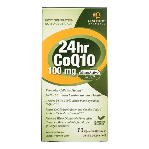 Genceutic Naturals 24 Hour CoQ10 - 100 mg - 60 Vcaps %count(alt)