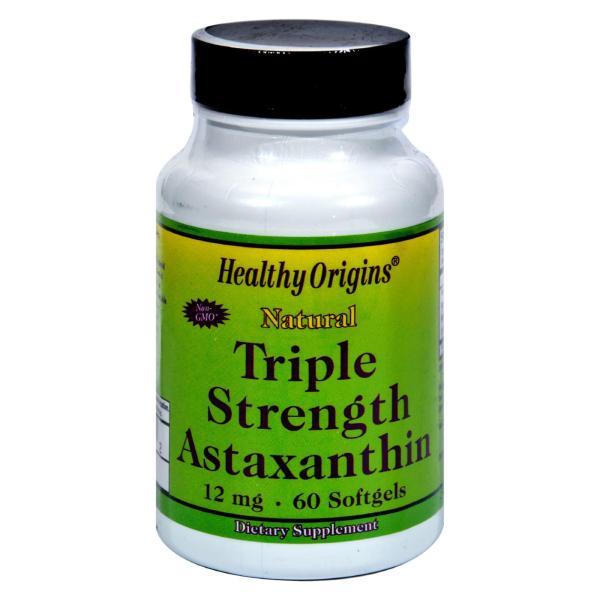 Healthy Origins Astaxanthin Triple Strength - 12 mg - 60 Softgels %count(alt)