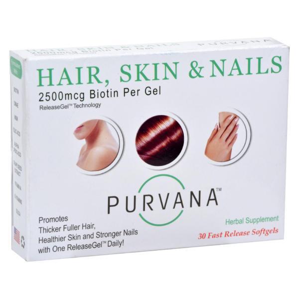 Heaven Sent Purvana Hair Skin Nails - 2500 mcg - 30 Softgels %count(alt)