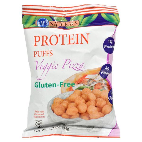 Kay's Naturals Protein Puffs - Veggie Pizza - Case of 6 - 1.2 oz %count(alt)
