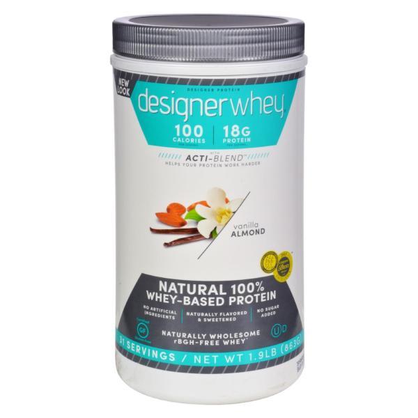 Designer Whey - Protein Powder - Vanilla Almond - 1.9 lbs %count(alt)
