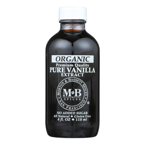 M&B Spices Organic Pure Vanilla Extract - Case of 3 - 4 OZ %count(alt)