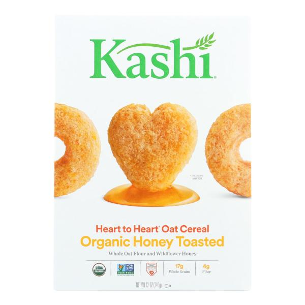 Kashi Cereal - Oat - Heart to Heart - Honey Toasted - 12 oz - case of 12 %count(alt)