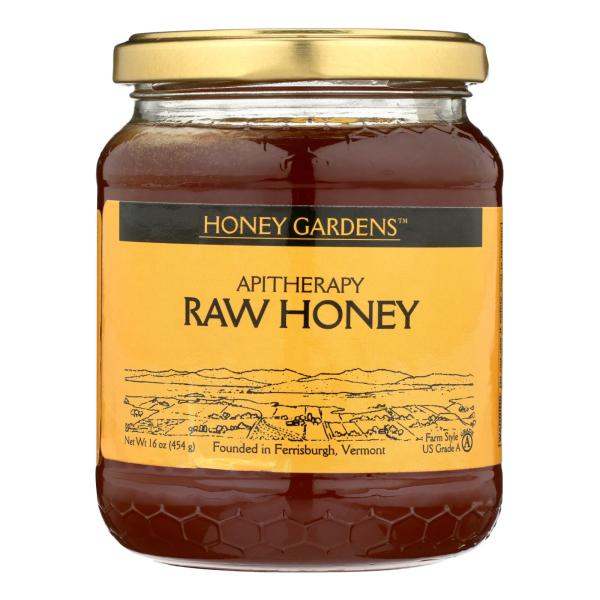 Honey Gardens Apiaries Apitherapy Honey - Raw - Case of 4 - 1 lb. %count(alt)