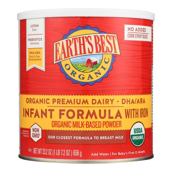 Earth's Best Organic Infant Formula with Iron - Case of 4 - 23.2 oz. %count(alt)