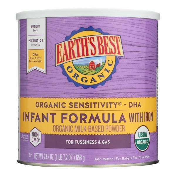Earth's Best Organic Sensitivity Infant Formula with Iron - Case of 4 - 23.2 oz. %count(alt)