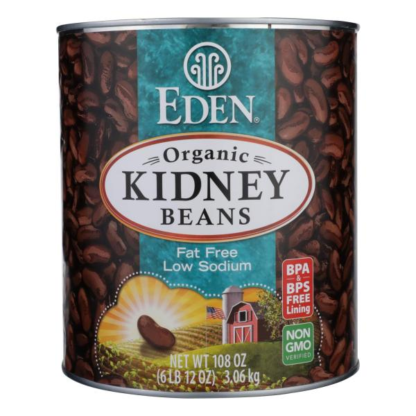 Eden Foods Organic Kidney Beans - Case of 6 - 108 oz. %count(alt)