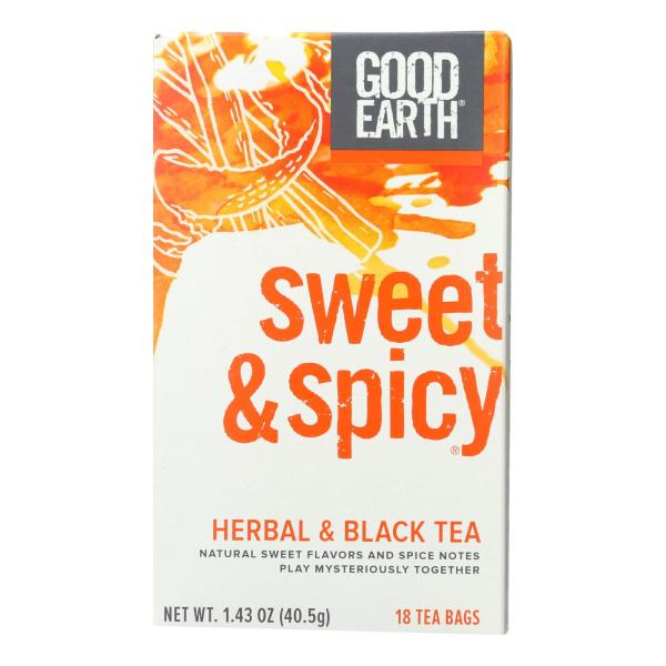 Good Earth Herbal and Black Tea - Sweet and Spicy - Case of 6 - 18 Count %count(alt)