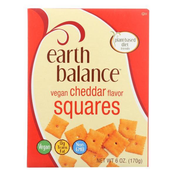 Earth Balance Vegan Squares - Cheddar - Case of 6 - 6 oz. %count(alt)