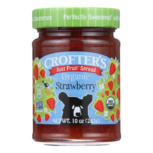 Crofters Fruit Spread - Organic - Just Fruit - Strawberry - 10 oz - case of 6 %count(alt)