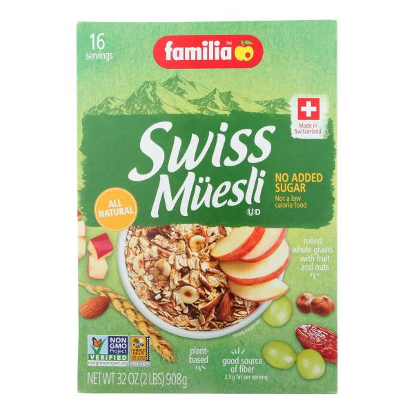 Familia Swiss M?esli - Sugar Free - Case of 6 - 32 oz. %count(alt)