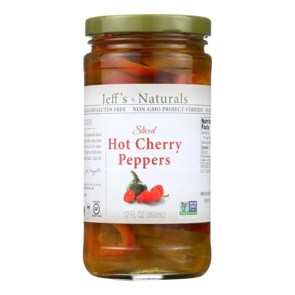 Jeff's Natural Jeff's Natural Hot Cherry Pepper - Hot Cherry Pepper - Case of 6 - 12 oz. %count(alt)