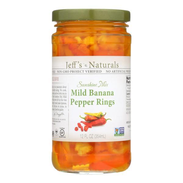 Jeff's Natural Banana Pepper - Mild - Sliced - Case of 6 - 12 fl oz %count(alt)