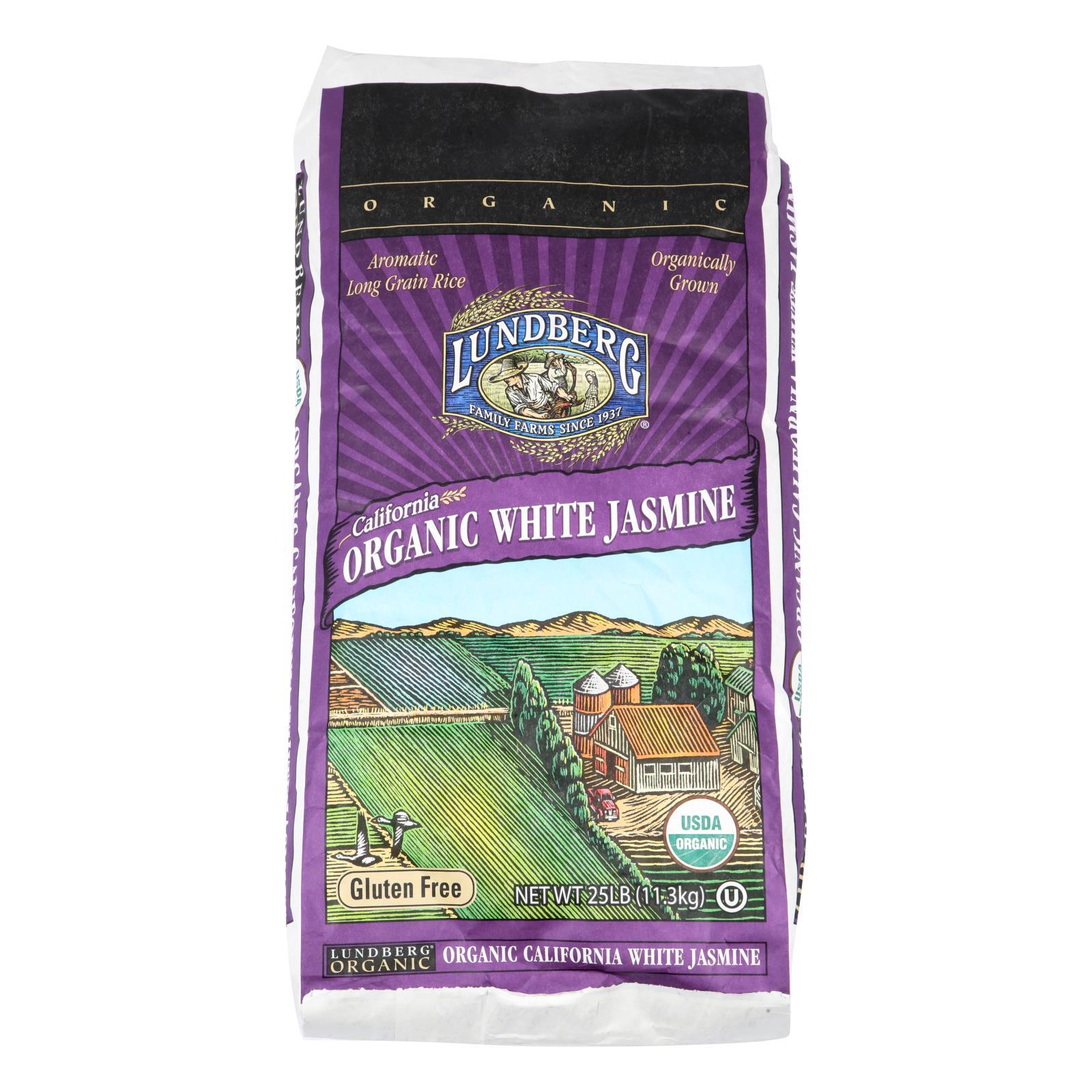 Lundberg Family Farms Organic Jasmine White Rice - Case of 25 lbs %count(alt)