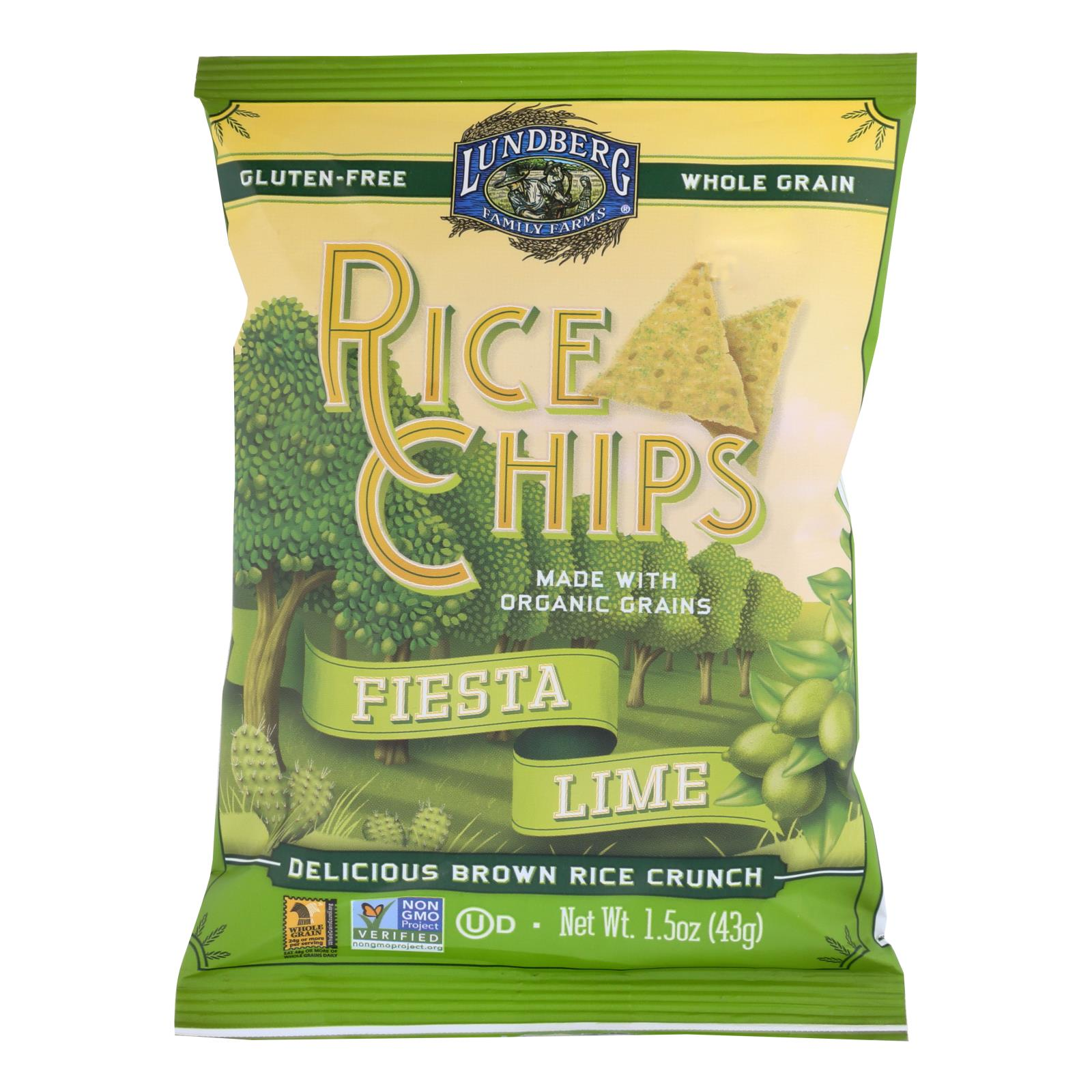 Lundberg Family Farms - Rice Chips - Fiesta Lme - Case of 24-1.5 oz. %count(alt)