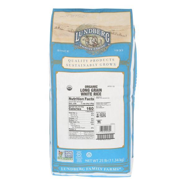 Lundberg Family Farms Organic White Long Grain Rice - Case of 25 lbs %count(alt)