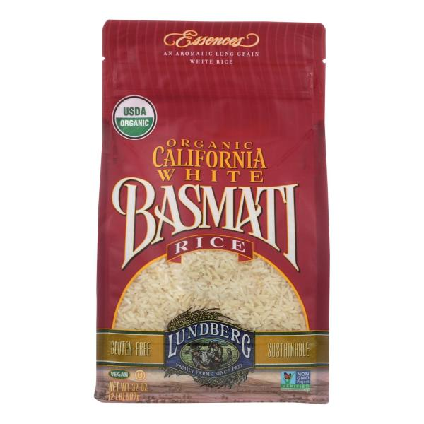 Lundberg Family Farms Organic White Basmati Rice - Case of 6 - 2 lb. %count(alt)