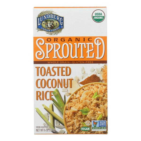 Lundberg Family Farms Organic Sprouted Rice - Toasted Coconut - Case of 6 - 6 oz %count(alt)