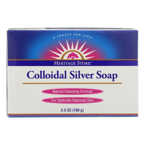 Heritage Store - Bar Soap Colloidal Silver - Case of 3 - 3.5 OZ %count(alt)