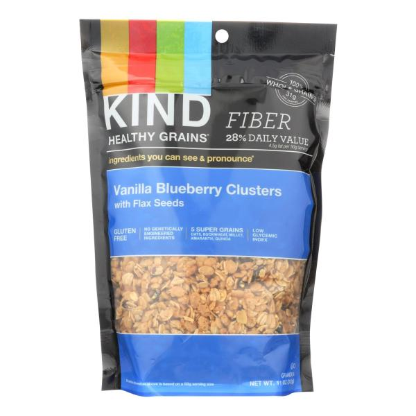 Kind Healthy Grains Vanilla Blueberry Clusters with Flax Seeds - 11 oz - Case of 6 %count(alt)