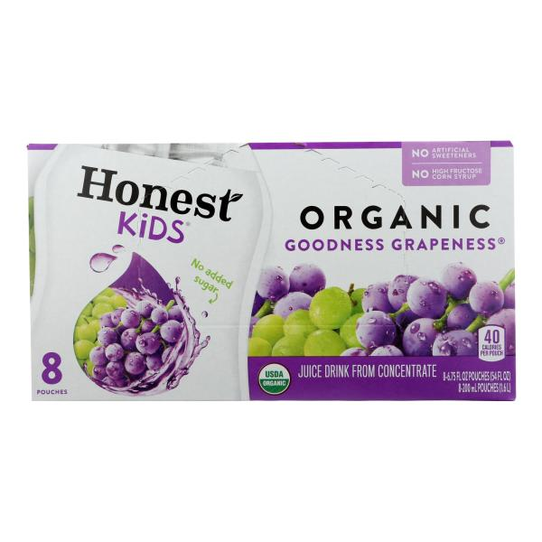 Honest Kids Honest Kids Goodness Grapeness - Goodness Grapeness - Case of 4 - 6.75 Fl oz. %count(alt)