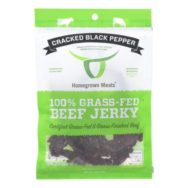 Homegrown Meats - Jerky Grs Fed Black Pepper - Case of 24 - 2.5 OZ %count(alt)