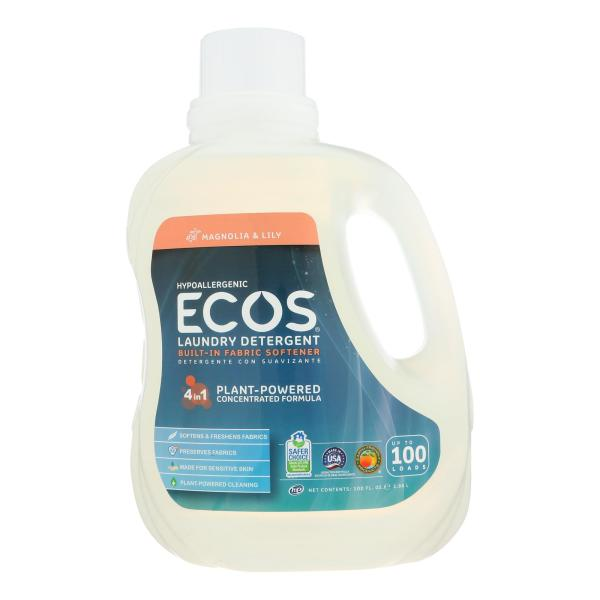 Earth Friendly Eco's 2X Ultra Liquid Laundry Detergent - Magnolia and Lily - Case of 4 - 100 fl oz %count(alt)