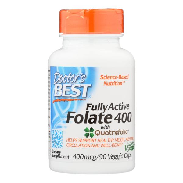 Doctor's Best - Folate Fully Actv Quadra - 1 Each-90 VCAP %count(alt)