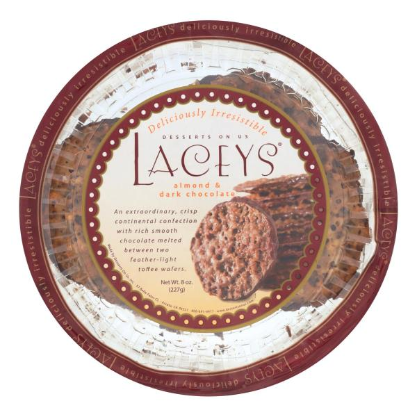 Laceys Cookies - Dark Chocolate Almond - Case of 24 - 8 oz. %count(alt)