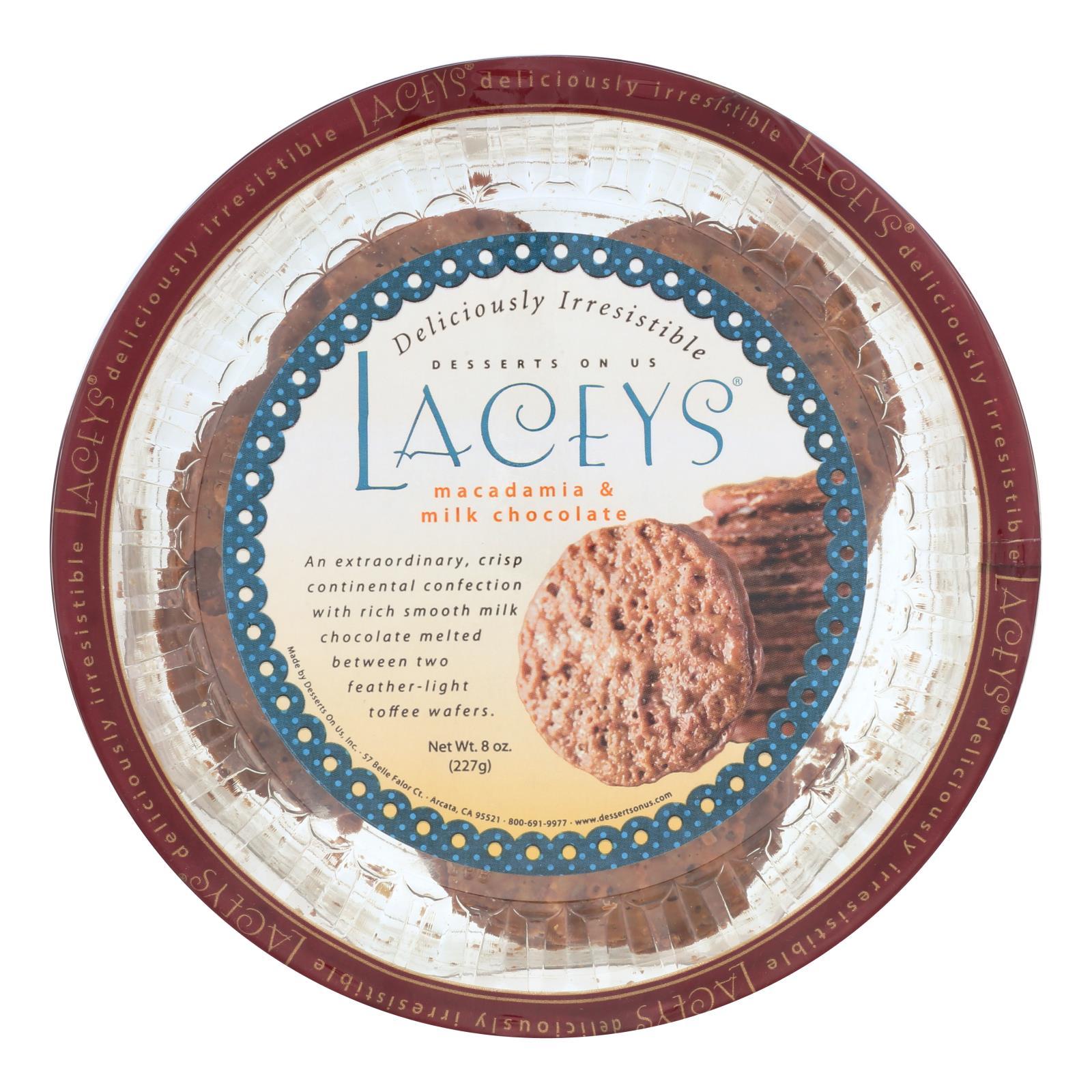 Laceys Cookies - Milk Chocolate Macadamia - Case of 24 - 8 oz. %count(alt)