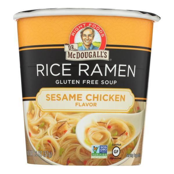 Dr. McDougall's Rice Noddle Asian Soup - Sesame Chicken - Case of 6 - 1.3 oz. %count(alt)