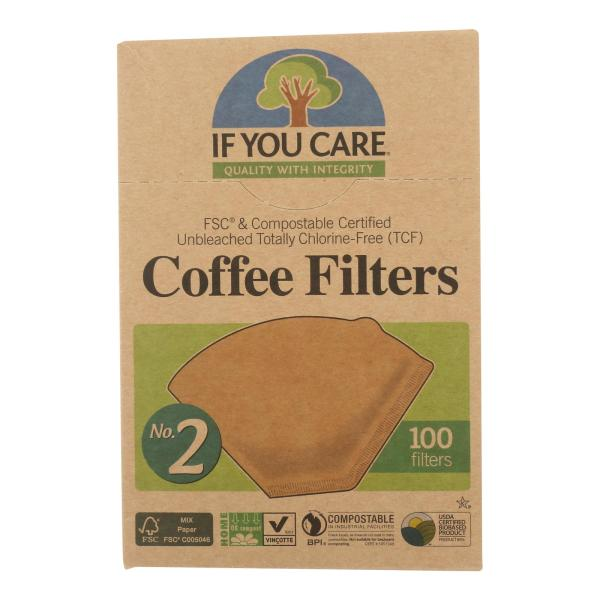 If You Care #2 Cone Coffee Filters - Brown - 100 Count (Pack of 3) %count(alt)