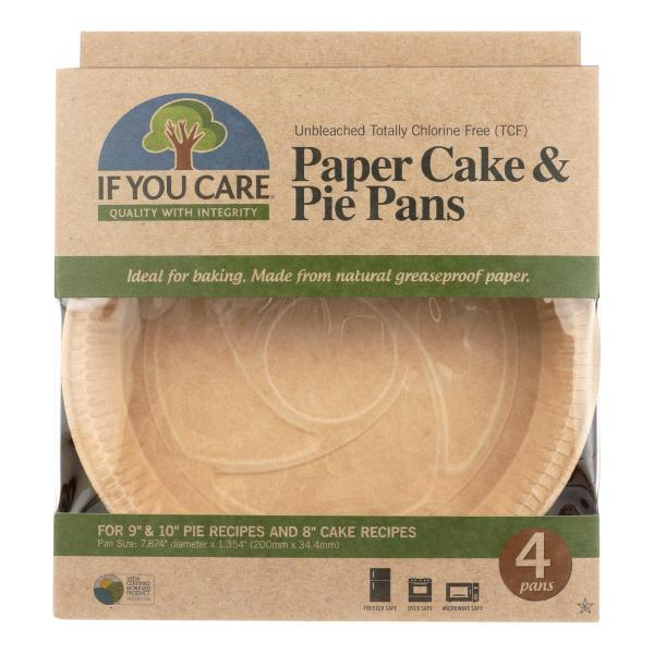If You Care Pie Baking Pans - Paper Cake - Case of 6 - 4 Count %count(alt)