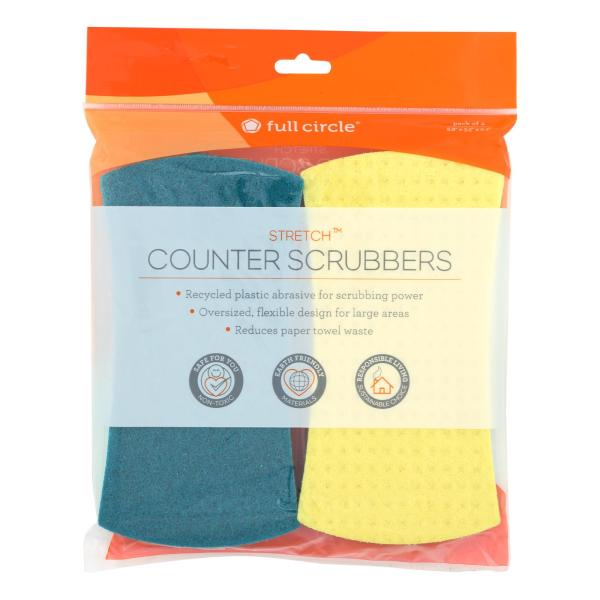 Full Circle Home - Stretch Counter Scrubbers - Case of 6 - 4 Count %count(alt)