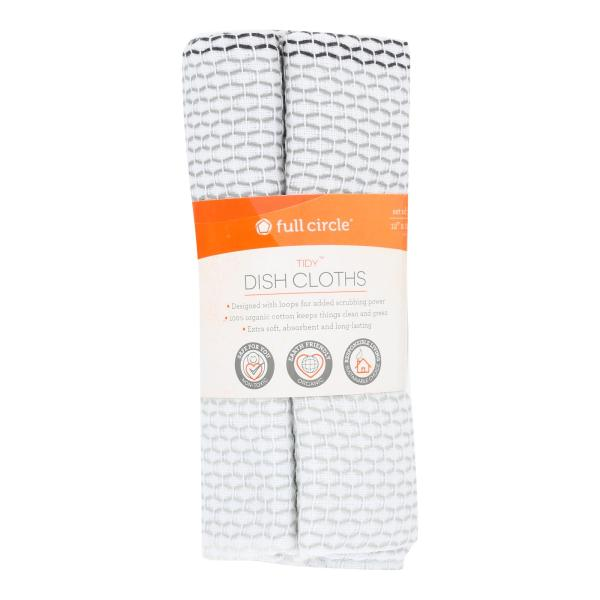 Full Circle Home - Tidy Dish Cloths - Grayscale - Case of 6 - 3 Count %count(alt)