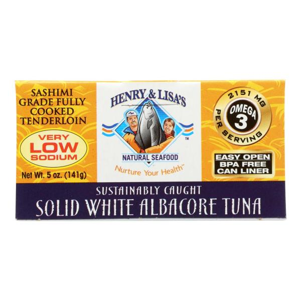 Henry and Lisa Natural Seafood Tuna - Solid White Albacore - No Salt Added - 5 oz - case of 12 %count(alt)