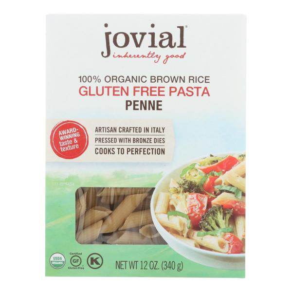 Jovial - Pasta - Organic - Brown Rice - Penne Rigate - 12 oz - case of 12 %count(alt)