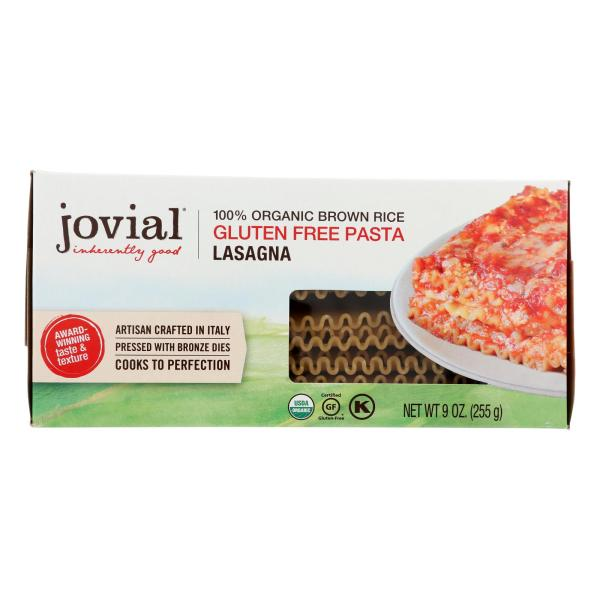 Jovial - Pasta - Organic - Brown Rice - Lasagna - 9 oz - case of 12 %count(alt)