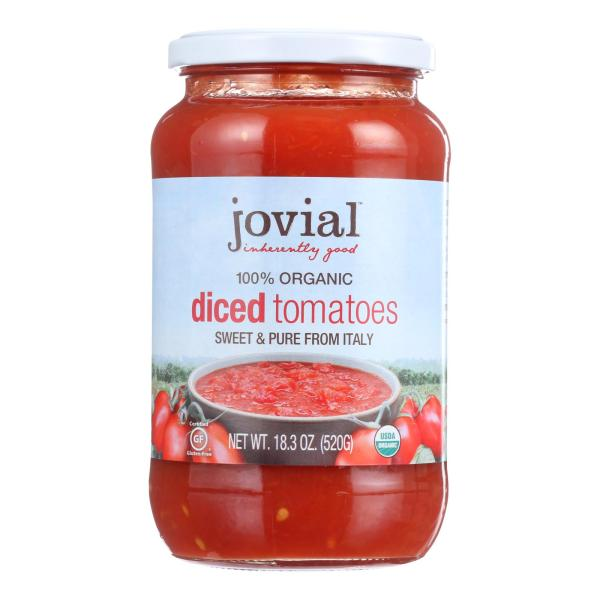 Jovial - Tomatoes - Organic - Diced - 18.3 oz - case of 6 %count(alt)