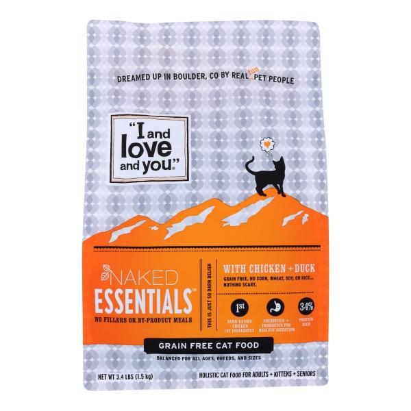 I And Love And You Cat Dry Food Naked Essentials With Chicken And Duck - Case of 3 - 3.4 LB %count(alt)